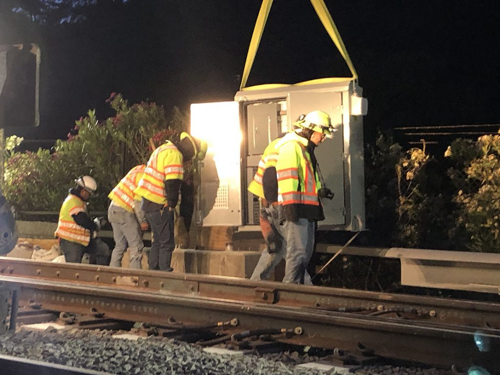 electrical installation for caltrain